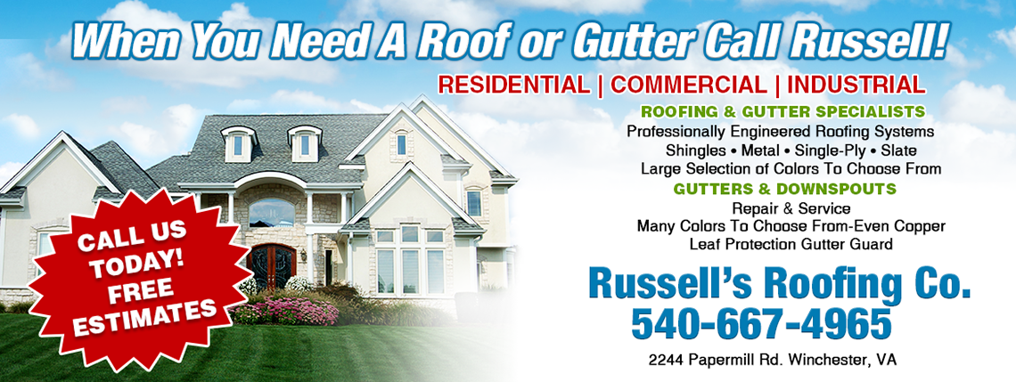 Roofing company in Winchester VA